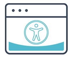 icona che rappresenta il logo dell'accessibilità