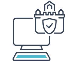 icona che rappresenta la messa in sicurezza di un pc