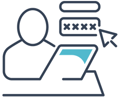 icona che rappresenta un utente difronte al pc